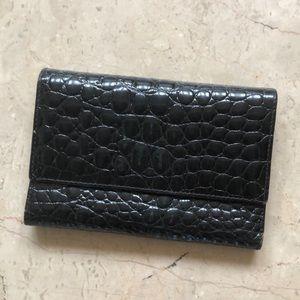 Handbags - 3 fold real croc leather wallet. ❤️